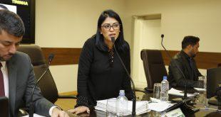 vereadora Tininha discursa durante sessão na câmara de Itapevi