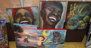 pinturas da exposição O Inquérito do Sacy