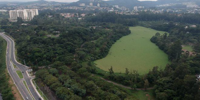 vista aérea do Parque Tietê