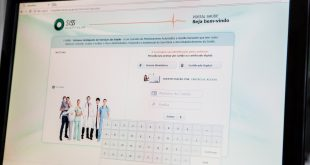 foto da tela do portal da saúde de Barueri