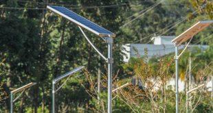 Lâmpadas sustentáveis na Via Parque