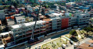 foto aérea das obras do novo Pronto-Socorro do Jardim Paulista