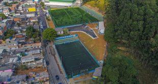 imagem aérea do novo Campo Isaura