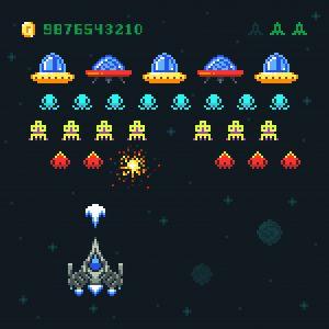 reprodução de Space Invaders