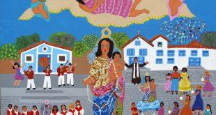 reprodução de obra integrante da exposição Cores do Folclore