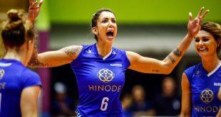 Thaisa Daher celebra ponto conquistado em partida pelo Hinode Barueri