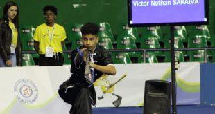 Victor Nathan Saraiva se apresenta no Campeonato Mundial Júnior de Kung Fu Wushu