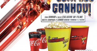 banner promocional do balde exclusivo e colecionável da Cinépolis para o filme do Homem-Formiga e a Vespa