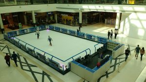 pista de patinação no gelo do parque shopping barueri