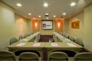 vista da Sala Concilium do Comfort Suites e Radisson Alphaville