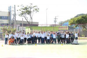 Participantes do sdpd movimenta posam para foto