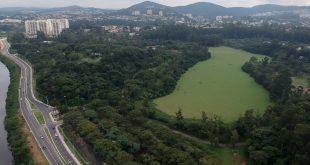 vista aérea do parque ecológico de barueri