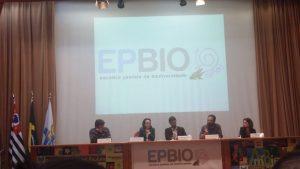 mesa de discussões do 10º EPBio