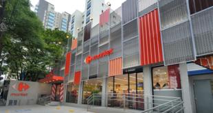 fachada da Loja Carrefour Market na Vila Olímpia, em São Paulo (SP)