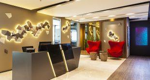 sala de recepção do novo espaço infinity business no Empresarial Escritórios Rio Negro