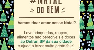 banner da campanha Natal do Bem 2018 do Detran.SP