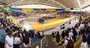 ginásio josé corrêa lotado para o encerramento dos jogos escolares 2018 barueri