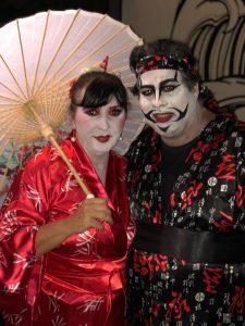 violeta e rodrigo do granja news maquiados em estilo japonês