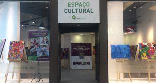 entrada da Exposição Arte Tribal no Parque Shopping Barueri