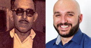 montagem com uma foto de Joaquim Mendes de Moraes e do vereador Professor Rafael