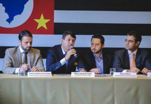 Elvis Cezar discursa durante a 1ª reunião do Conselho de Desenvolvimento da Região Metropolitana do Estado